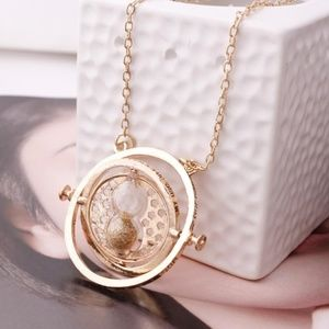 NEW Harry Potter Time Turner Hourglass Necklace